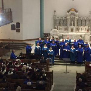 St. Rose Church choir, Robert Hopko, director, and Wallingford United Methodist Church choir, David Brandl, director
