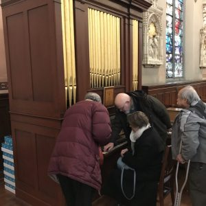 1841 1 manual 4 rank organ moved (and restored by Richard Hamar) from Riverton, Connecticut to Ste. Anne Shrine in Waterbury in 2009